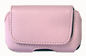 Eva Leather Pouch Pink Horizontal