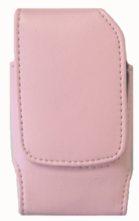 Eva Leather Pouch Pink Vertical