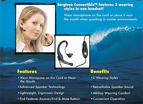 Body Glove Ear Glove Convertible Headset
